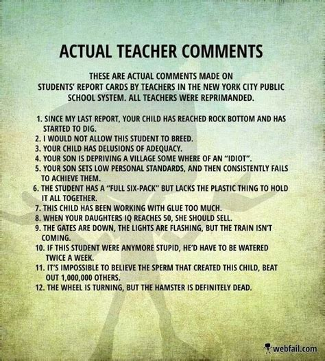 sles of report card comments 14 best images about report comments on