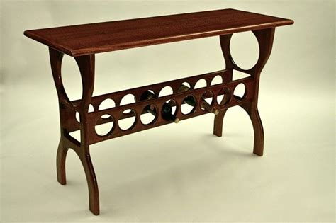sofa table with wine rack handmade mahogany sofa table with wine rack by triton s