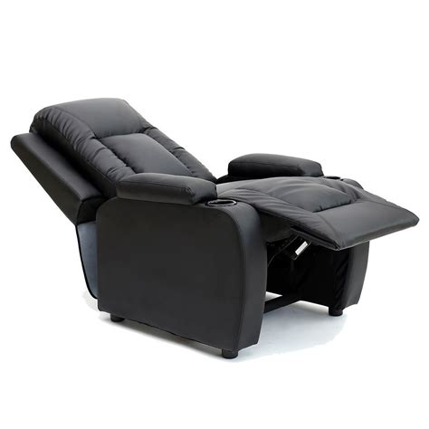 armchair drink holder oscar leather recliner w drink holders armchair sofa chair