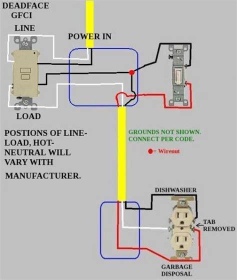 dishwasher and garbage disposal wiring wiring diagram