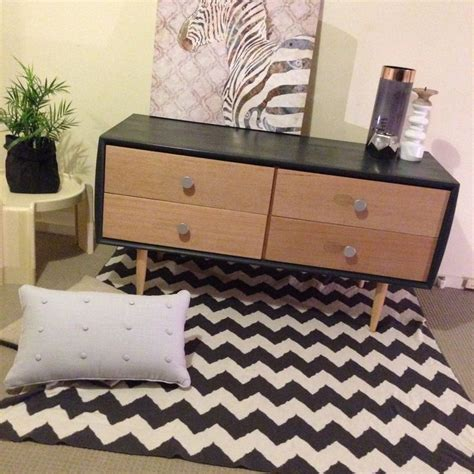 Lowline Bedroom Drawers Retro Modern Scandinavian Inspired Upcycled Chest Of