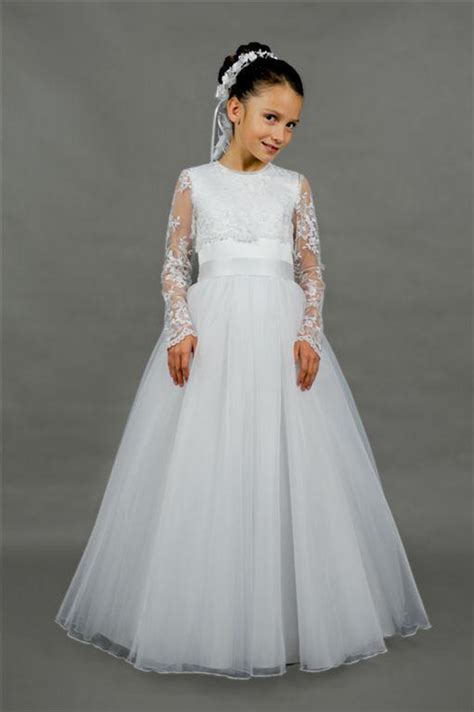 popular long sleeve communion dresses buy cheap long