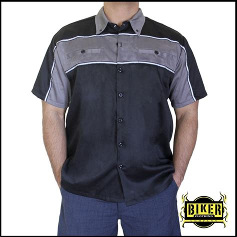design a mechanic shirt black reflective mechanic button down shirt different