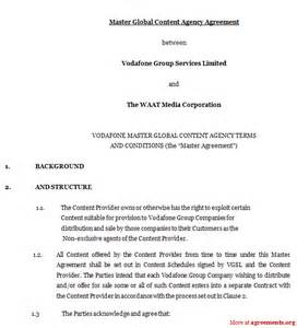 Agreement Letter For Travel Agency Agency Agreement Sle Images Frompo