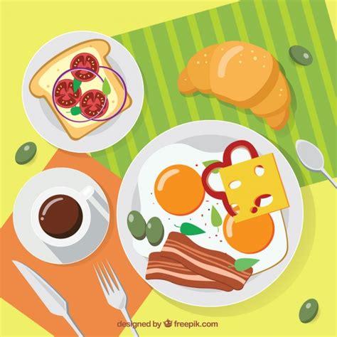breakfast background delicious breakfast background vector free