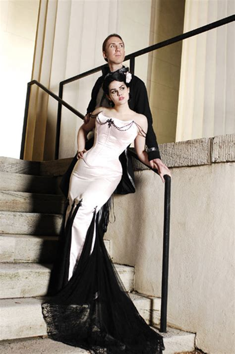 pinups for black weddings goes wedding 187 stunning black and white wedding dress