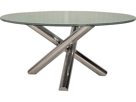 Ritz Dining Table International Furniture Ritz Gotham Dining Table Base With 60 Clear Crackled Top