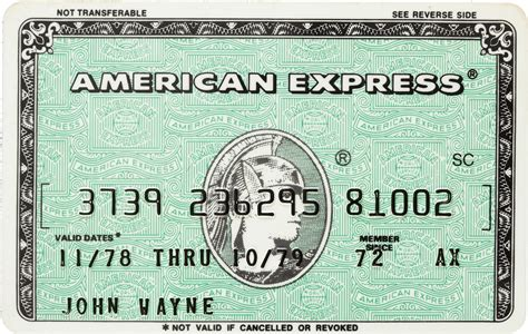 American Express Credit Card american icon wayne s costumes awards and documents