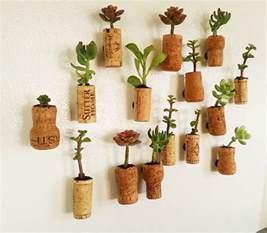 dekoration selber basteln diy cork planters kreative bastelideen mit korken