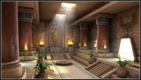 Indian Home Interior by Shibasis Dutta Cg Works Egyptian Palace Interior