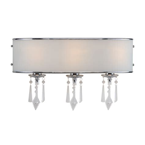 Bathroom Vanity Fixture Golden Lighting 8981 Ba3 Echelon 3 Light Bathroom Vanity Fixture Shown In Chrome Bridal Veil