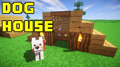 how to make a dog house in minecraft minecraft dog pet house tutorial quick and easy xbox pc pe ps3 youtube