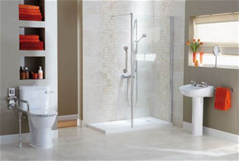 walk in showers wet rooms disabled bathrooms adaptations