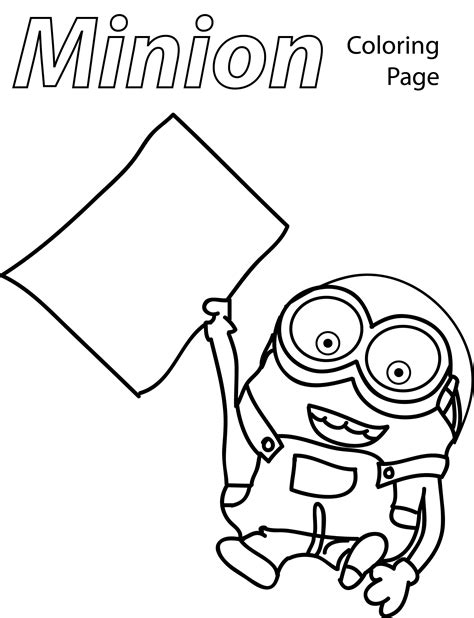 coloring papers minion paper coloring page wecoloringpage