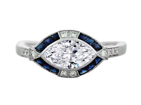 horizontal markise horizontal marquise ring settings