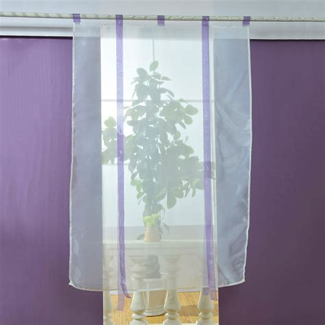 Sheer Kitchen Window Curtains New Sheer Kitchen Bathroom Balcony Window Curtain Voile Liftable Blinds Ebay