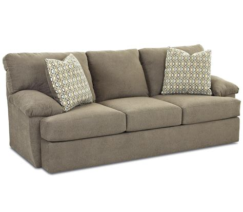 sofa with attached seat cushions casual sofa with attached pillow back and foam cushion