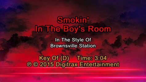 Smokin In The Boys Room Lyrics by Brownsville Station Smokin In The Boys Room Backing