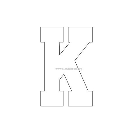 letter k template 7 best images of printable letter stencil k printable
