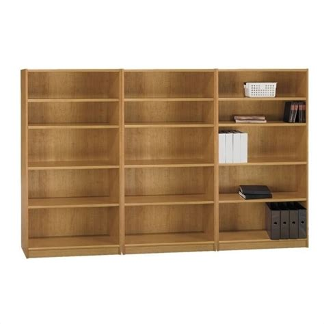 bush universal 5 shelf 72 bookcase bush universal 5 shelf wall bookcase in maple