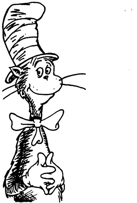 Cat In The Hat Printable Coloring Pages