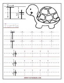 Printable letter t tracing worksheets for preschool mfw k unit 06