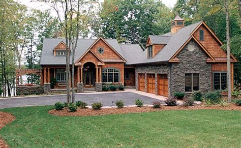 3 car garage home plans house plan 85480 cottage craftsman plan with 4304 sq ft