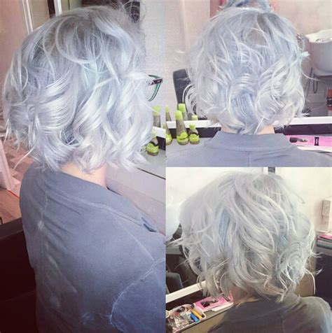 grey curly shag style haircut 23 trendiest bob haircuts for 2017