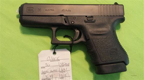 45er Auto by Glock 36 3 45acp 45 Sub Compact 6rd Slim For Sale