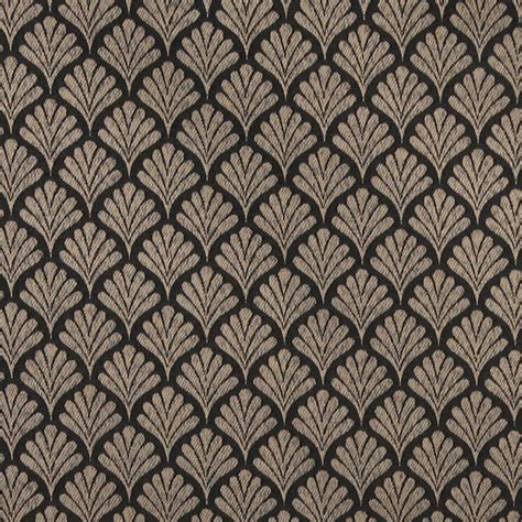 Black Upholstery Fabric Uk by Black Fan Patterned Woven Upholstery Fabric By The Yard Upholstery Fabric By