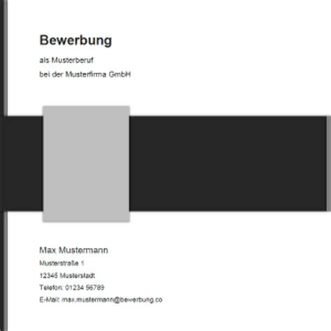 Deckblatt Modern Vorlage Deckblatt F 252 R Die Bewerbung Muster Und Vorlagen 2017
