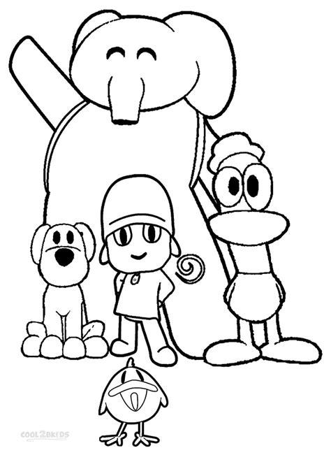dibujos para colorear de patos printable pocoyo coloring pages for kids cool2bkids