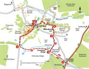 new forest car parks map a new forest loop from burley bike rides the aa