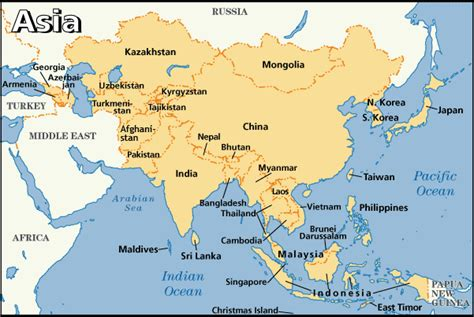 map of asian countries asia fast facts asia area map