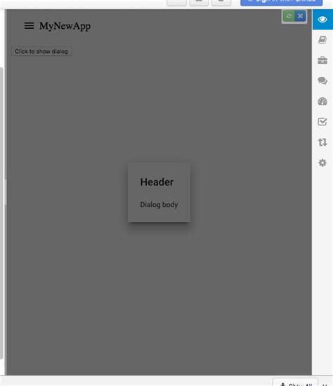 polymer layout js polymer 1 x paper dialog modal appears behind app header