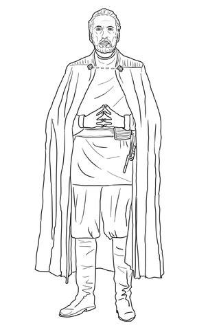 Dibujo de Conde Dooku de Star Wars: La Venganza de los