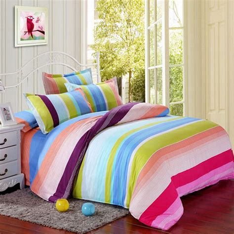 colorful bedspreads polyester colorful stripes single king reactive