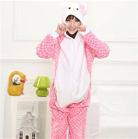 Kt Pj Top So49 Detail Di Pic buy winter pajamas one flannel anime set kt cat warm homewear onesies animal