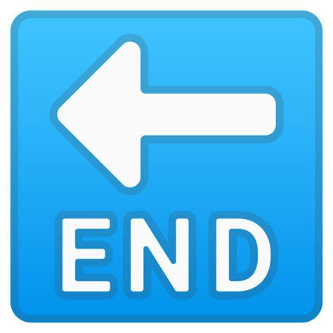 emoji ending end pfeil emoji