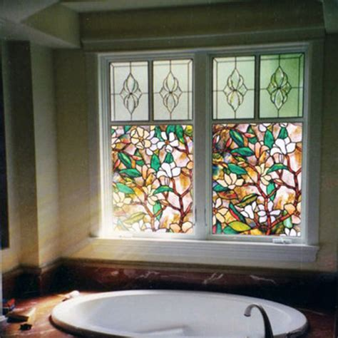 decorative window decals for home stained glass floral decorative window static cling film