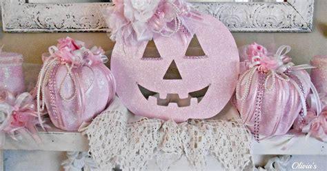 olivia s romantic home shabby chic pink pumpkin fall