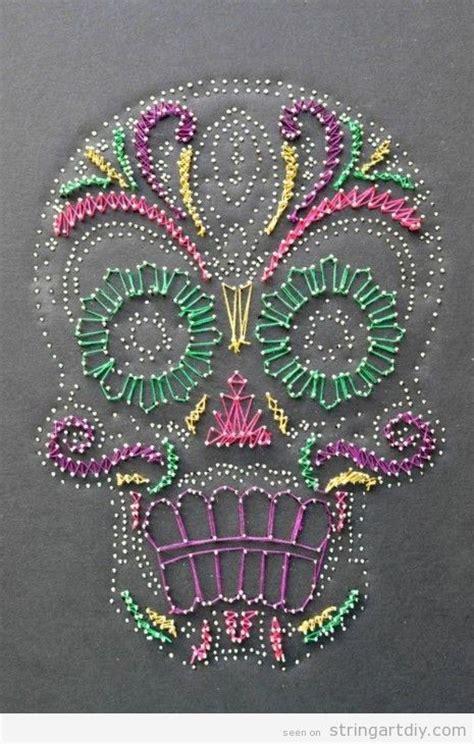 string art pattern maker sugar skull string art string art diy free patterns