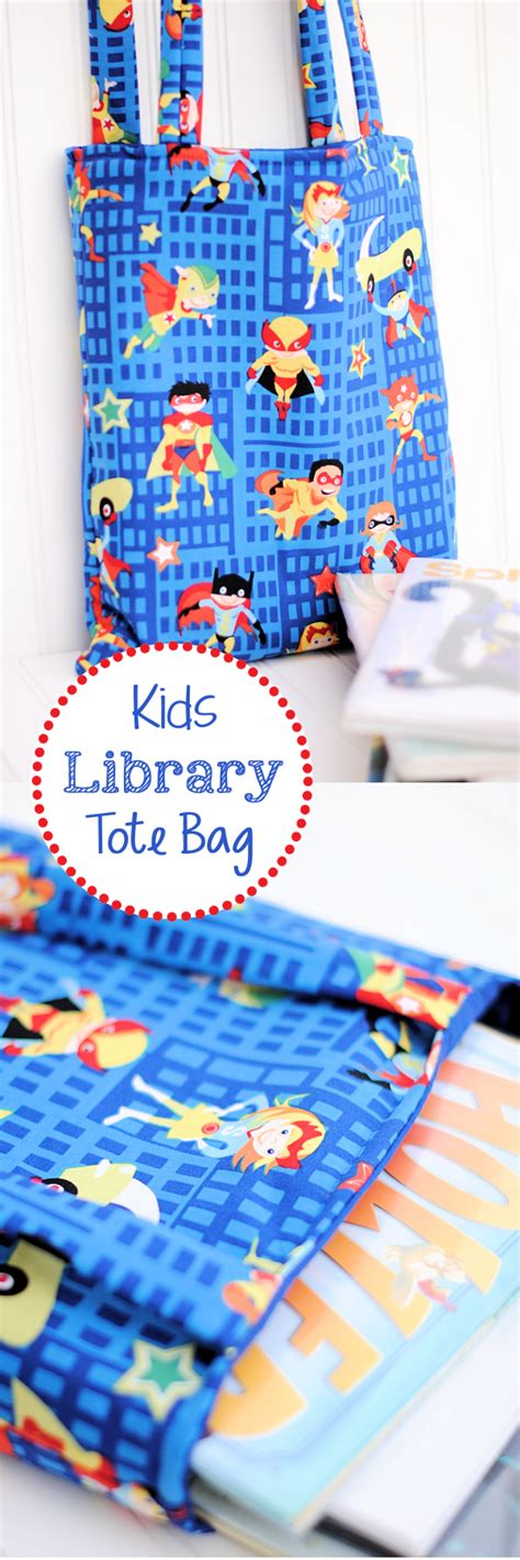 simple pattern library kids library bag tutorial