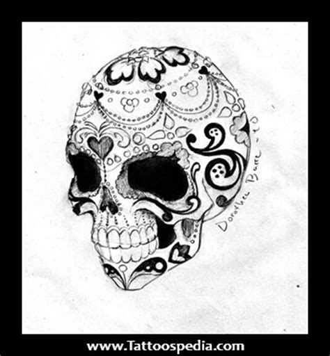 skull and roses tattoo meaning sugar skull meaning