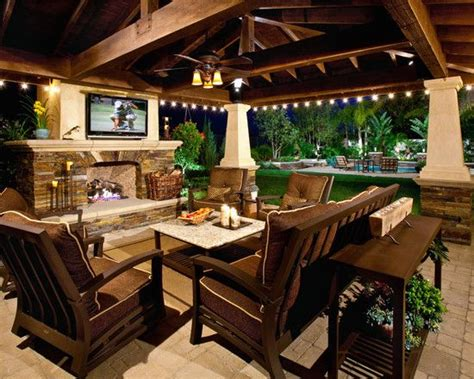 outdoor living plans a big screen tv a covered patio would be such a