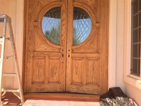 refinishing front door front door staining and refinishing in san diego chism