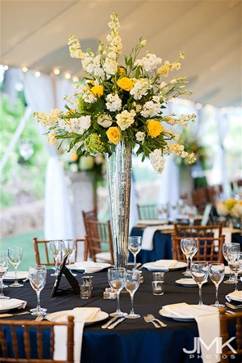 High Vase Centerpieces by 17 Best Ideas About Yellow Themed Weddings On