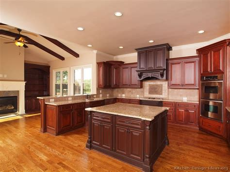 cherry kitchen ideas cherry cabinets wood flooring kitchen backsplash