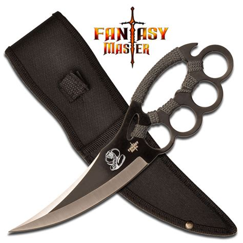 knife knuckles fm 617g knuckle fighter knife with sheath grey