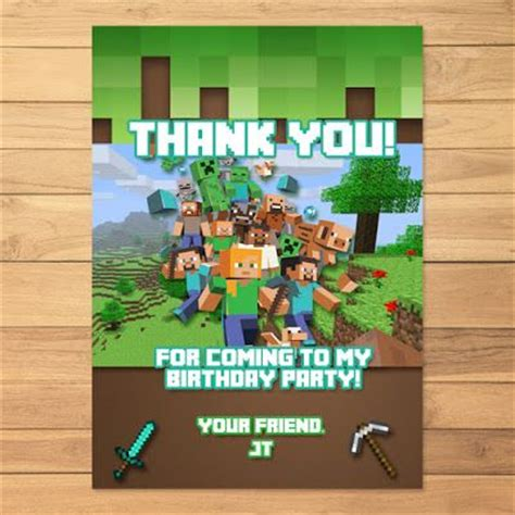 Minecraft Thank You Card Template by The World S Catalog Of Ideas